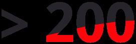 > 200